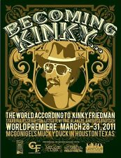 Becoming Kinky: The World According to Kinky Friedman - Poster