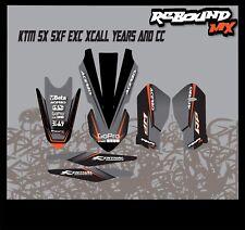 REBOUND Graphics Kit:Fits KTM SX SXF EXC 50 65 85 125 150 250 300 350 450 models