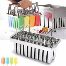 20 Lattice Ice Cream Bars Pop* Mold Stainless Steel Frozen Popsicle Stick Tools*