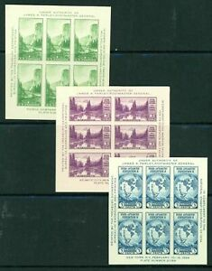 United States #735,750,751 3 Sheets of 6 1934 MNH/MLH(751)