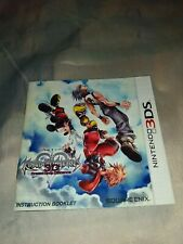 EXCELLENT Condition Nintendo DS Kingdom Hearts 3D Manual/Booklet FREE SHIPPING!!