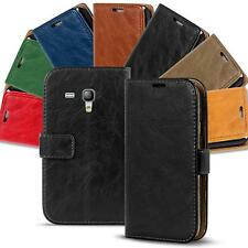 Samsung Galaxy S3 Mini Shockproof Wallet Book Case Cover PU Leather Flip Holder