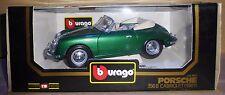 BURAGO-DIE CAST-PORSCHE 356B Cabriolet 1961-Verde (1/18) cod 3051 (B2)