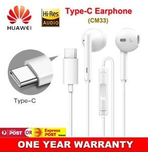 Genuine Huawei Type C USB-C Earphones Stereo Headphones For P20 Mate 20 P30 Pro