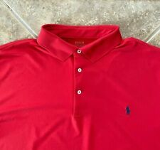 Polo Ralph Lauren Performance Polo Shirt Mens 3XLT Red w/Navy Pony NWT $98