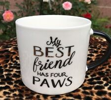 My Best Friend Has Four Paws Coffee Cup Dog Cat Horse Animal Lover Mothers Day