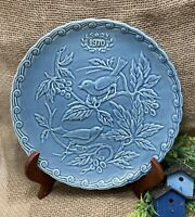 """Faience De Stamand 1970 Blue Birds Collector Plate France Limited Edition 9 3/4"""""""