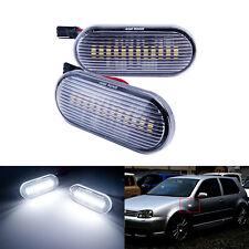 Blanc LED Clignotant Répétiteur Lampe Pour VW Bora Jetta Caddy Golf Lupo Passat