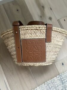 Loewe Small Raffia Basket Bag