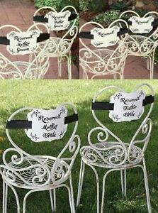 Wedding Chair Reserved Signs For the Mother of the Bride and Groom Decorations