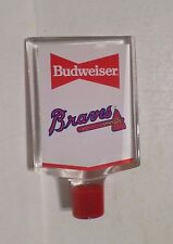 "Rare Atlanta Braves Baseball Budweiser 6"" Beer Keg Tap Handle Marker Knob Pull"