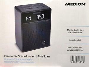 MEDION Bluetooth Steckdosenradio MD 47002 Radio Freisprechfunktion Schwarz