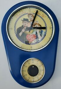 """Old Vintage I Love Lucy Kitchen Wall Clock """"Cookin"""" Wall Clock w/ Timer Clock"""