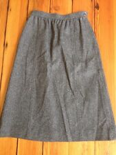 """Vintage The Villager USA Union Made Gray Wool A-Line Pencil Skirt 24"""" Waist"""
