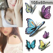 Women Temporary Tattoos Sticker Body Art Sticker 3D Butterfly Tattoo Waterproof