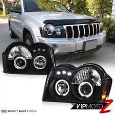 [BEST] 2005-2007 Jeep Grand Cherokee Laredo SRT Limited Black LED Halo Headlight