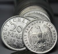 Rare Gem Unc Roll (50) Germany (Weimar) 1923-D 200 Mark Coins~EAGLE~Free Ship