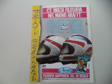 advertising Pubblicità 1987 CASCO HELMET ARAI e FREDDIE SPENCER