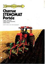 ▬►Prospectus Original KVERNELANDS Charrues STENOMAT Tracteur Massey  Soméca IH