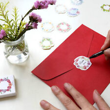 45pcs/box Paper.Floral Writable Christmas Gift Packing Label Seal Stickers Decor
