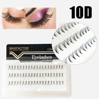 HOT 60Pcs Handmade 10D Individual Extension False Eyelashes Flare Cluster Lashes