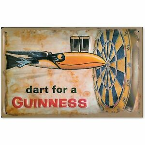 Dart for a Guinness embossed steel sign 300mm x 200mm