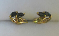ONE PAIR OF 9 CT. GOLD & SAPPIRE EARRINGS - CHEAP POST
