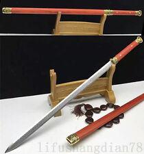 40' 1095 High Carbon Steel Tang Sword Full Tang Blade Rose Wood Saya