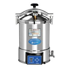 18L Portable High Pressure Steam Medical Autoclave Sterilizer Stainless Steel CE