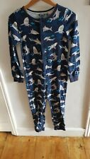 Fat Face Boys Navy  Cotton All In One / PJs 10-11 Years