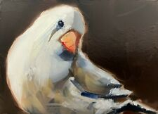 Original Aceo Miniature Oil Painting, Bird, Finch by Gary Bruton