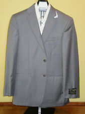 $1295 new Jos A Bank Signature Gold grey stripe suit 42 L 36 W tailored fit