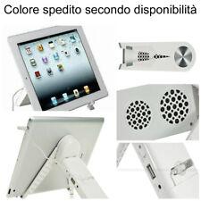 Supporto Stand da tavolo iPad 2 3 4 Mini Google Nexus Samsung Tablet con Speaker
