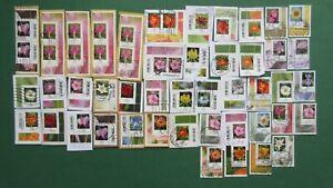50 X BRD Briefmarken Blumen Dauerserie mit  Eckrand, gestempelt