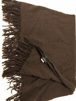 """Pendleton Dark Brown 100% Wool Blanket With Fringe  72"""" X 57"""""""