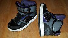 VGUC! Osiris Skate Shoes Kids Boys Sz 12 Sneakers Leather Purple/Black High Top