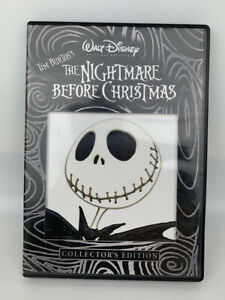 The Nightmare Before Christmas (DVD, 2008, Collectors Edition) Region 1 + Insert