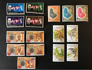 BARBADOS QEII COLLECTION - 1962-1988 4 x SETS MM