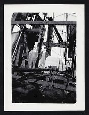 Vintage Antique Photograph Two Men in Overalls Standing At the Construction Site