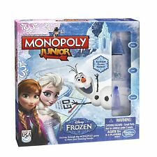 NEW!! Monopoly Junior Frozen Edition Board Game STYLE A- Hasbro FREE DELIVERY!!