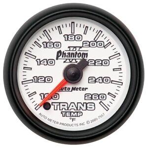 "Auto Meter 7557 2-1/16"" Phantom II Electric Trans Temp Gauge 100-260 °F NEW"