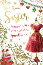 Special Sister Dress Shoes Boxes & Bag Design Christmas Card Lovely Verse