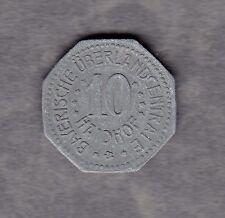 Haidhof - Bayerische Überlandzentrale - Notmünze 10 Pf. -Zink- (Fu. 413.3)