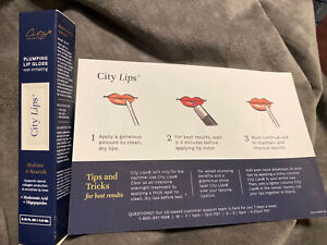 CITY BEAUTY CITY LIPS CLEAR PLUMPING LIP GLOSS NIB Free Shipping