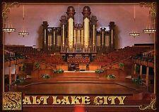 Mormon Tabernacle Salt Lake City, Utah, Pipe Organ, Auditorium, Ut - Postcard