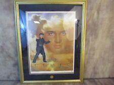 Elvis Presley Framed Lithograph - Signed by Nate Giorgio - 1995 Franklin Mint