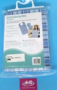 3 Pack Aidapt Adult Reusable / Waterproof Dining / Eating Bibs
