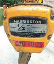 Harrington Es3b 7200 Electric Chain Hoist 12 Ton 20 Lift 208 230460v 3ph