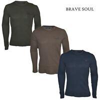 Mens Crew Neck Camo Longline T-Shirt Brave Soul /'Albert/' Zip Short Sleeve S-XL