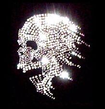 Crâne Gothique Cristal Strass Transfert Fer Sur T Shirt strass motif design